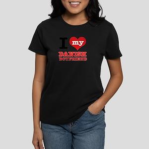 I love my Danish Boyfriend Women's Dark T-Shirt