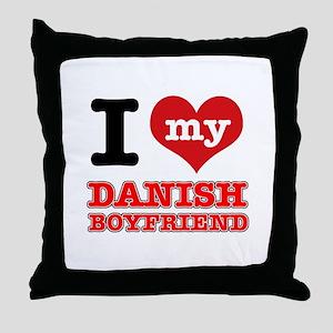 I love my Danish Boyfriend Throw Pillow