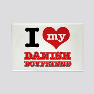 I love my Danish Boyfriend Rectangle Magnet