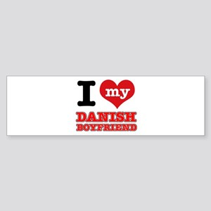 I love my Danish Boyfriend Sticker (Bumper)