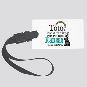Toto Kansas Quote Large Luggage Tag