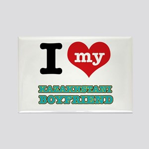I love my Kazakhstani Boyfriend Rectangle Magnet