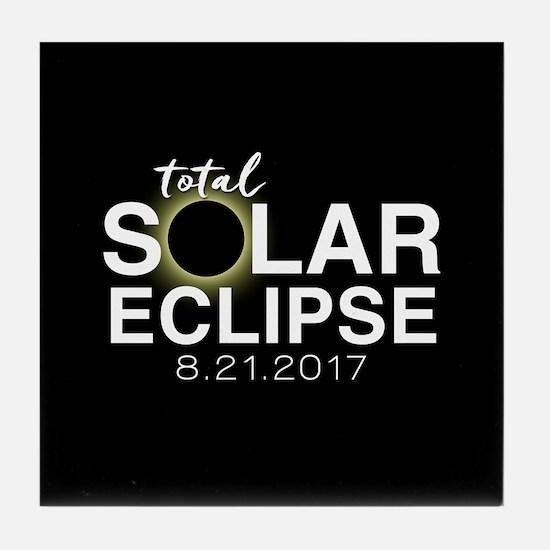 Solar Eclipse 2017 Tile Coaster