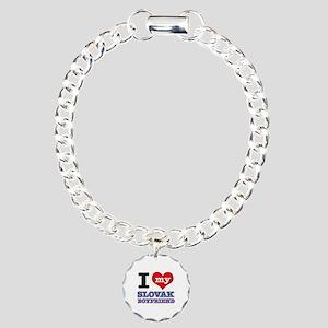I love my Slovak Boyfriend Charm Bracelet, One Cha