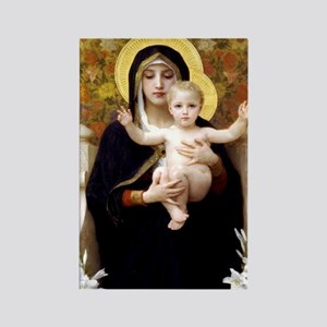 Madonna of the Lilies Rectangle Magnet