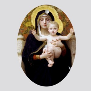 Madonna of the Lilies Oval Ornament