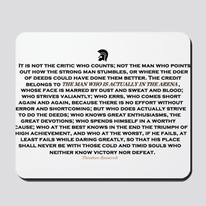 Man in the Arena Mousepad