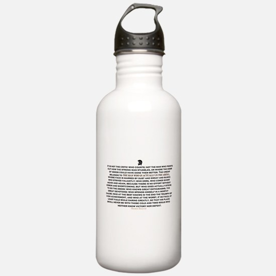 Man in the Arena Water Bottle