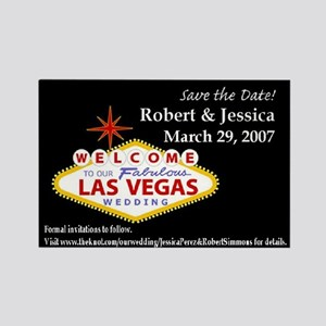 Robert & Jessica Save the Date Rectangle Magnet