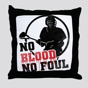 No Blood, No Foul, Lacrosse Throw Pillow