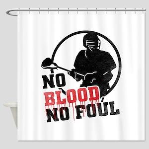 No Blood, No Foul, Lacrosse Shower Curtain