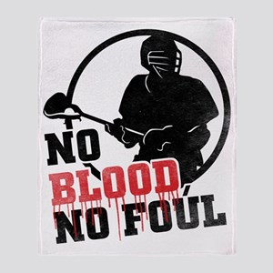 No Blood, No Foul, Lacrosse Throw Blanket