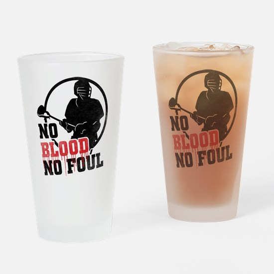 No Blood, No Foul, Lacrosse Drinking Glass