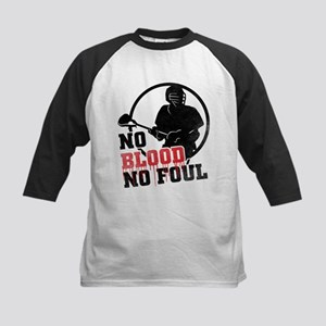 No Blood, No Foul, Lacrosse Baseball Jersey