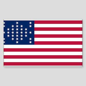 US - 33 Stars Fort Sumter Flag Sticker