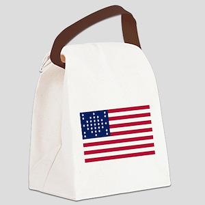 US - 33 Stars Fort Sumter Flag Canvas Lunch Bag