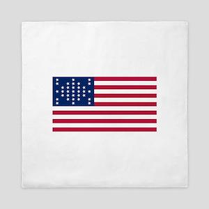 US - 33 Stars Fort Sumter Flag Queen Duvet