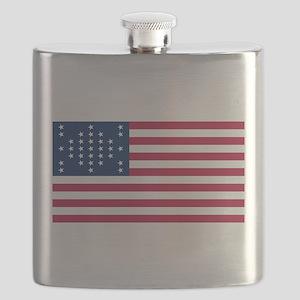 US - 33 Stars Fort Sumter Flag Flask