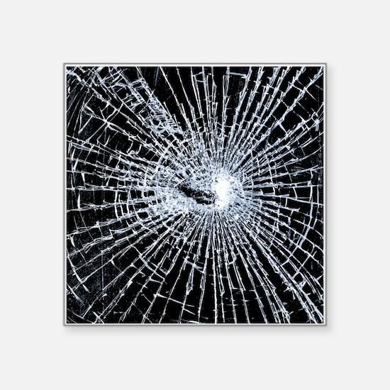 Broken Glass 2 Black Sticker