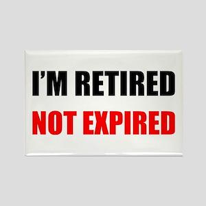 Retired Not Expired Rectangle Magnet