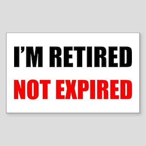 Retired Not Expired Sticker (Rectangle)