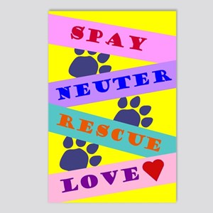 Spay, Neuter, Love Postcards (Package of 8)