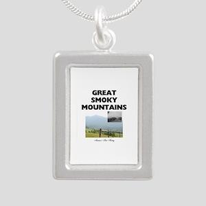 Smoky Mountains Americas Silver Portrait Necklace