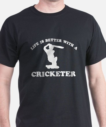 Cricketer vector designs T-Shirt