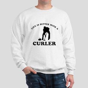 Curler vector designs Sweatshirt