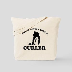 Curler vector designs Tote Bag