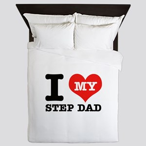 I Love My Step Dad Queen Duvet