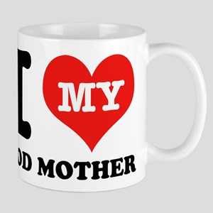 I Love My God Mother Mug