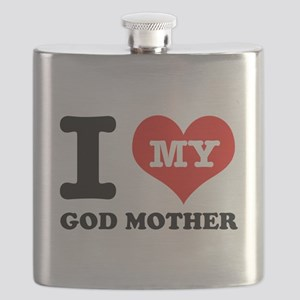 I Love My God Mother Flask