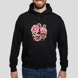 Pink Peace Love Cure Hoodie