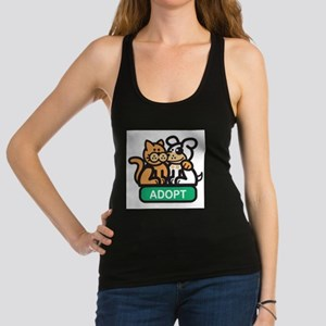adopt animals Racerback Tank Top