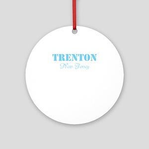 TRENTON, NJ, TWOSTARS DESIGN. BLUE. Ornament (Roun