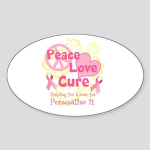 Pink Peace Love Cure Sticker