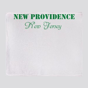 NEW PROVIDENCE, NJ, TWOSTARS DESIGN. GREEN. Throw