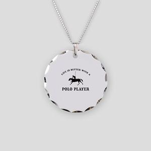Polo Player vector designs Necklace Circle Charm