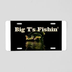 Big Ts Fishin magnet Aluminum License Plate