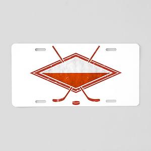 Polski Hokej Na Lodzie Flag Aluminum License Plate
