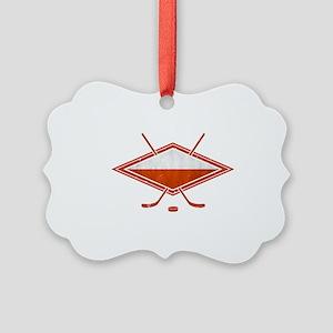 Polski Hokej Na Lodzie Flag Ornament