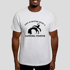 Capoeira Fighter vector designs Light T-Shirt