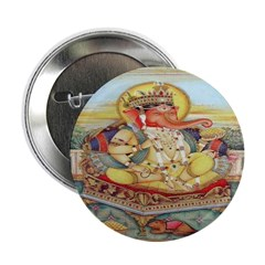 Ganesh Seated on Cushion Buttons (10 pack)