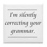 Grammar Tile Coasters