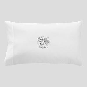 Gray Peace Love Cure Pillow Case