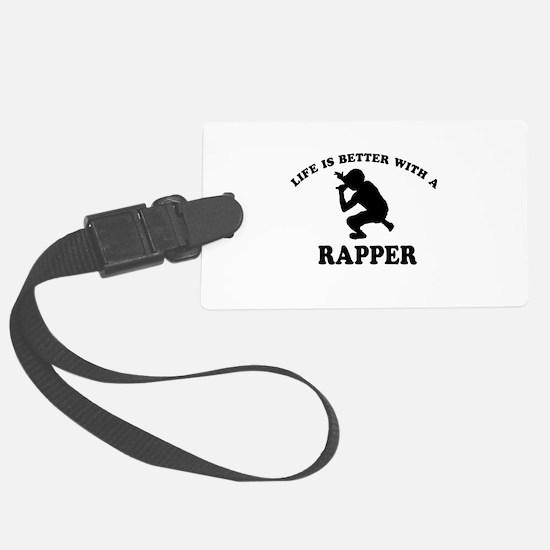 Rapper vector designs Luggage Tag