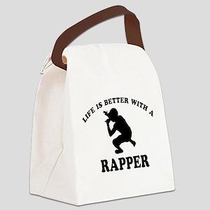 Rapper vector designs Canvas Lunch Bag