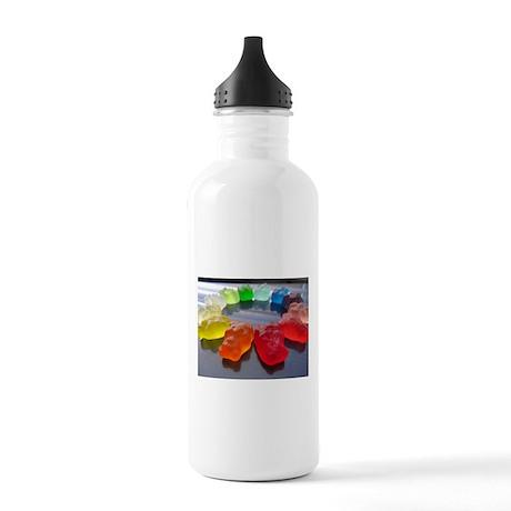 Rainbow of Gummi Bears Water Bottle