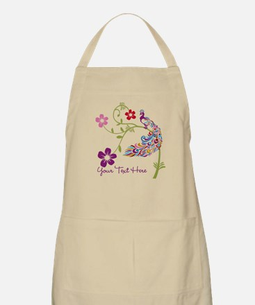 Add Text Colored Peacock Apron